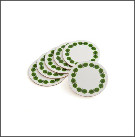 Glasunderlägg Berså grön