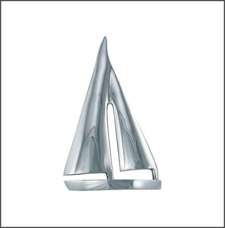 Segelbåt nickel finish stor