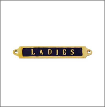Mässingsskylt - Ladies