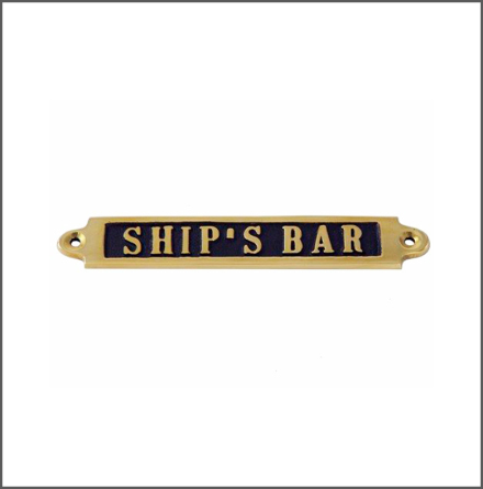 Mässingsskylt - Ship's Bar