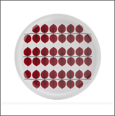 Bricka Berså rund röd