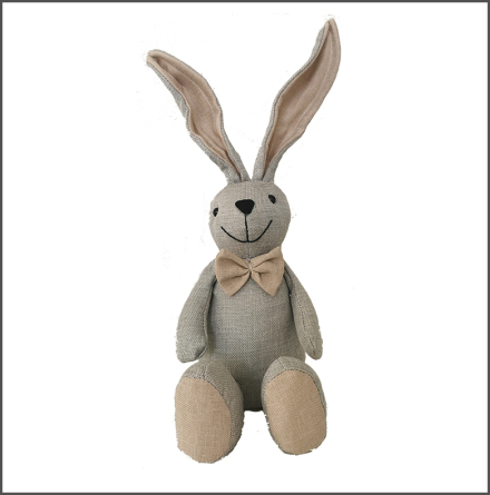 Kanin sittande stor grå