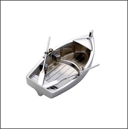 Roddbåt för värmeljus krom
